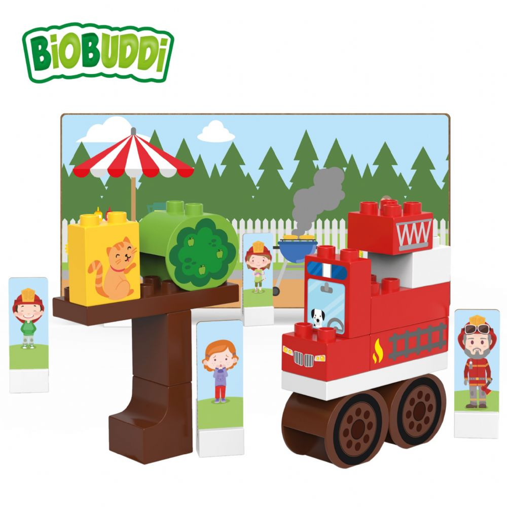 BiOBUDDi - Fire Truck - 29 Blocks